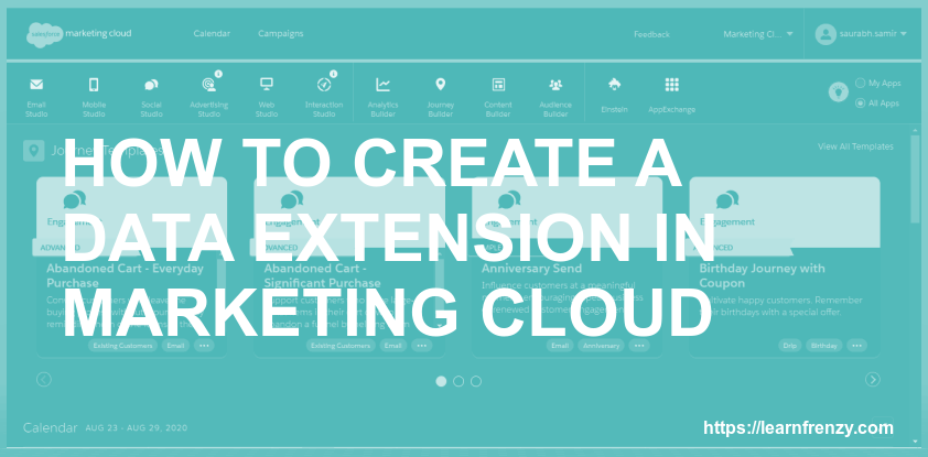 How to Create a Data Extension in Marketing Cloud